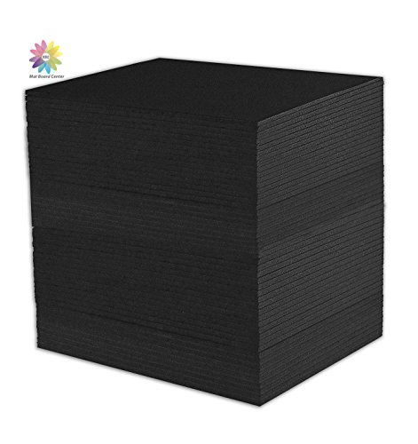 Mat Board Center, Pack of 50 Foam Core Backing Boards, Mounting Board (5x7 - Foam Board, Black) by MBC MAT BOARD CENTER