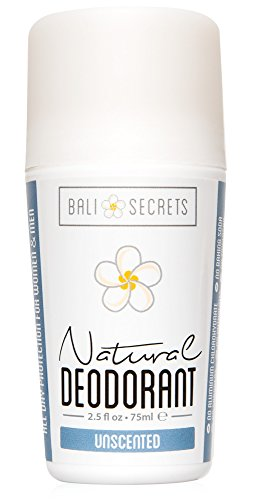 Bali Secrets Natural Deodorant - Organic & Vegan - For Women & Men - All Day Fresh - Strong and Reliable Protection - 2.5 fl.oz/75ml [Unscented]