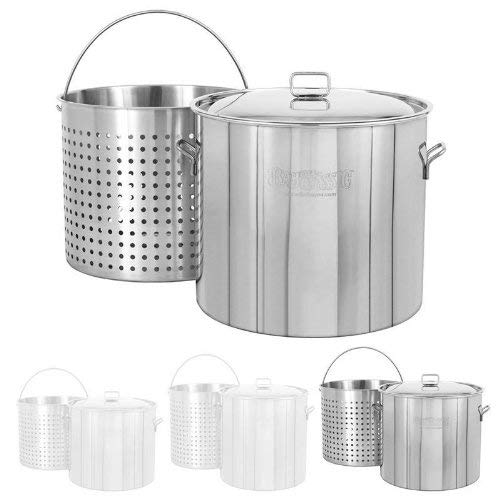 Bayou Classic 162-qt Stainless Bayou Boiler with Lid and Basket