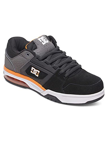 Dc Shoes Rival M Shoe Xssn, Color: Grey/Grey/Orange, Size: 41.5 EU (8.5 US / 7.5 UK)