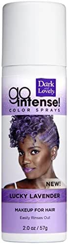 Temporary Hair Color by SoftSheen-Carson Dark and Lovely, Go Intense Color Sprays, Hair Color Spray for Instant and Ultra-vibrant Color even on Dark Hair, For Natural and Relaxed Hair, Lucky Lavender