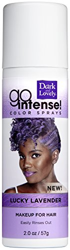Temporary Hair Color by SoftSheen-Carson Dark and Lovely, Go Intense Color Sprays, Hair Color Spray for Instant and Ultra-vibrant Color even on Dark Hair, For Natural and Relaxed Hair, Lucky Lavender -