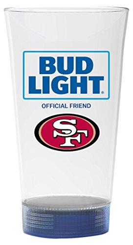 Bud Light 49ers Touchdown Glass, San Francisco 49ers by Bud Light