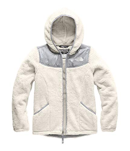 The North Face Girls' OSO Hoodie, Vintage White Stripe, M