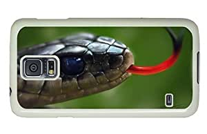 Hipster DIY Samsung Galaxy S5 Case snake head painting PC White for Samsung S5