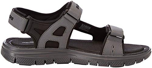 Sandali Uomo 0 Flex Black Nero con Skechers Advantage 1 Upwell Charcoal Cinturino Caviglia alla XBZSq6