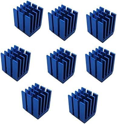 200PCS Gdstime Heatsinks 9x9x12mm Cooler Heat Sink Aluminum Mini IC Chipset Cooling