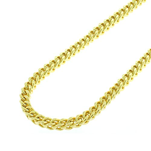 (Verona Jewelers 14K 2MM Yellow Gold Franco Square Box Link Chain- Available in Sizes 18-30 (18))