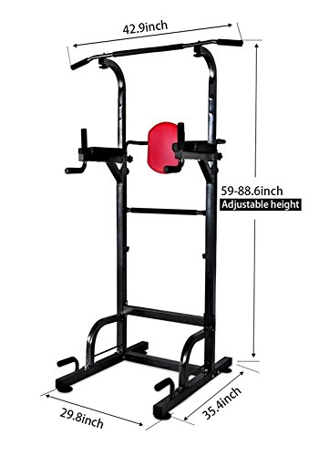 AbleFitness Dip Station Chin Up Bar Power Tower Pull Push Home Gym Fitness Core