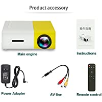 EDTara Video Projector LED Resolution 320 x 240 Support Music Picture Video as Home Theater Mini Cinema Projectors