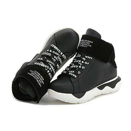 Btrada High Top Platform Moda Deporte Running Sneaker Lace Up Zapatos Casuales A Prueba De Agua Negro