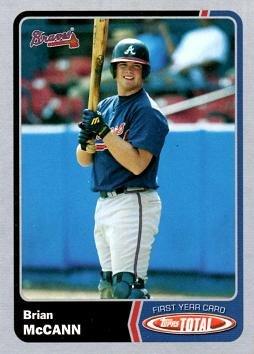 2003 Topps Total Silver Baseball #986 Brian McCann Rookie Card ()
