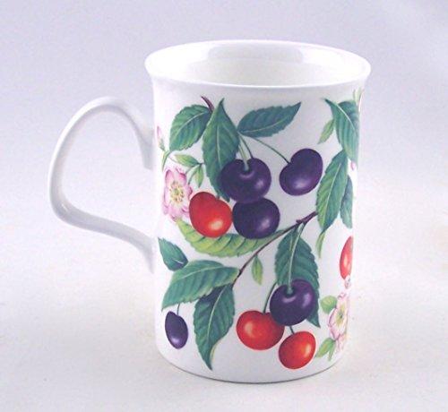 (Fine English Bone China Mug - Sweet Cherry Chintz - England)