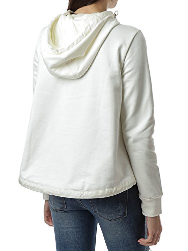 Wiberlux Moncler Women's Padded Panel Hooded Zip-Up Jacket XS Ivory by Wiberlux (Image #4)
