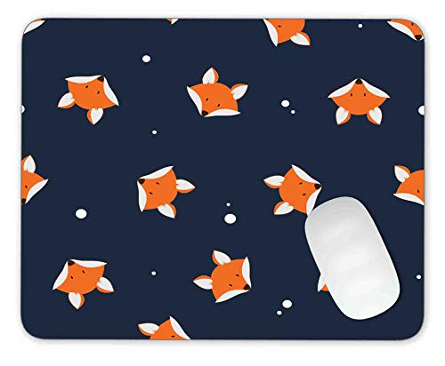 Timing&weng Orange Foxs Head on Dark Background Mouse pad Gaming Mouse pad Mousepad Nonslip Rubber Backing