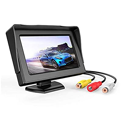 B-Qtech 4.3 inch LCD Display Backup Camera and Monitor Rear View Reverse Camera Waterproof for Car SUV Van: Home Audio & Theater