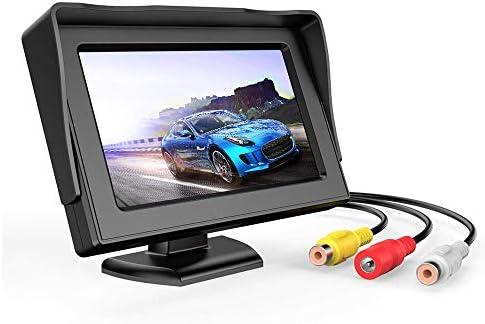B-Qtech 4.3 inch LCD Display Backup Camera and Monitor Rear View Reverse Camera Waterproof for Car SUV Van(Power Supply: DC 12V)
