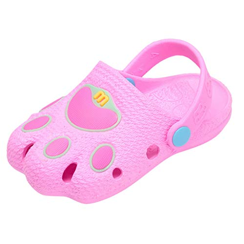 Mysky Popular Infant Kids Baby Lovely Cartton Paw Comfortable Breathable Hollow Sandals Casual Hole Shoes Pink ()