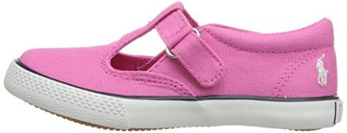 Polo Ralph Lauren Kids Tabby LT PK CVS WHT PP T-Strap Sneaker (Toddler/Little Kid), Light Pink, 8 M US Toddler