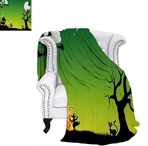 Digital Printing Blanket Witches Dancing with Fire and