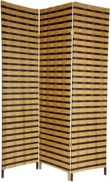 Great-Simple-Inexpensive-Durable-Room-Divider-6ft-Rattan-Style-Two-Tone-Woven-Fiber-Folding-Screen-Partition-3-Sizes