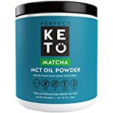 Perfect Keto Matcha Green Tea: Ketogenic Fat Butter Coffee Alternative w Coconut Oil MCT. Ketone Energy on Ketosis Diet Ceremonial Grade Japanese Matcha Latte Powder