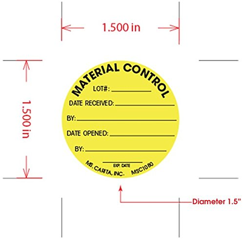 1.5 Inch Diameter 1000 per Roll Material Labels