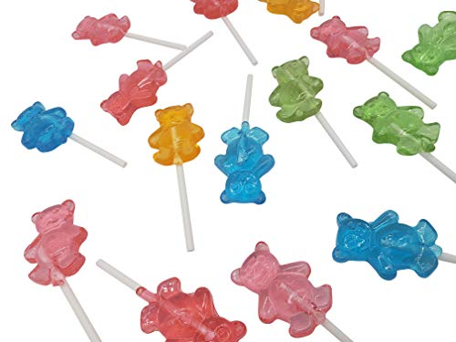 Bear Pop - Teddy Bear Shaped Lollipops Sucker | 32 Count | Individually Wrapped | Assorted Flavors | Kosher | Nut Free | Gluten Free