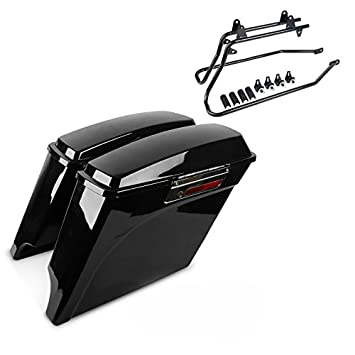 Set de Maletas Laterales con Portamaletas para Harley-Davidson Softail Standard 99-06 Extendidas: Amazon.es: Coche y moto
