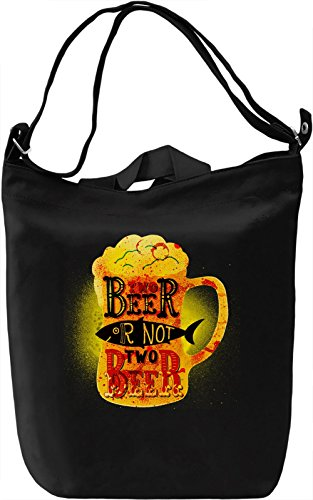 Two Beer Borsa Giornaliera Canvas Canvas Day Bag| 100% Premium Cotton Canvas| DTG Printing|