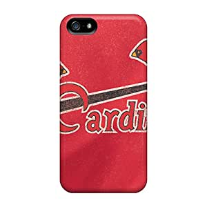 Apple Iphone 5/5s IWU12923tNzk Support Personal Customs High-definition St. Louis Cardinals Image Shockproof Hard Phone Covers -LauraAdamicska