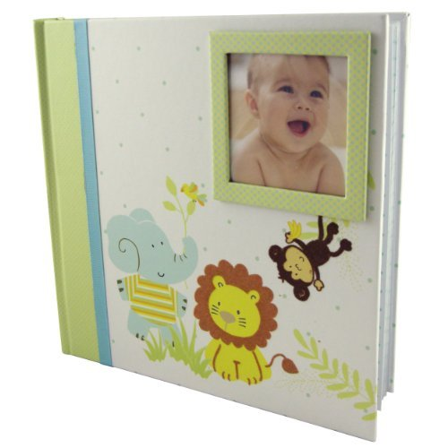 C.R. Gibson Stepping Stones Baby Photo Album, Jungle Friends Color: Jungle Friends NewBorn, Kid, Child, Childern, Infant, Baby
