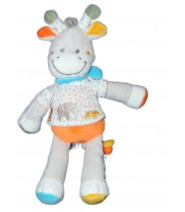 Doudou jirafa vaca gris blanca color blanco Elephant 32 cm ...