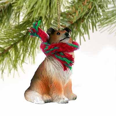 Collie Miniature Dog Ornament - Sable ()