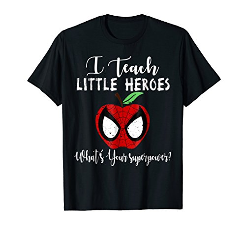 I Teach Super Heroes T Shirt Cute Mom