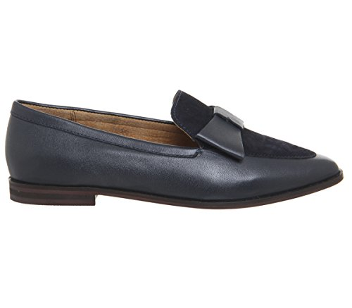 Navy Flats Point Flaunt Office Leather Bow aqPTHBH