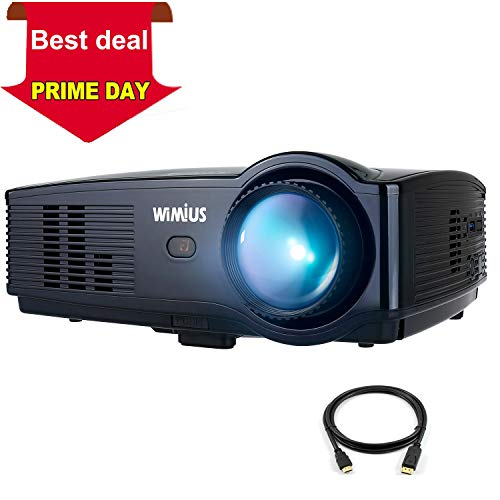 Projector, WiMiUS Upgraded T4 4000 Lumens Home Theater Projector Support Full 1080P Compatible with Amazon Fire TV Stick Laptop iPhone Android Phone Xbox Via HDMI USB VGA AV