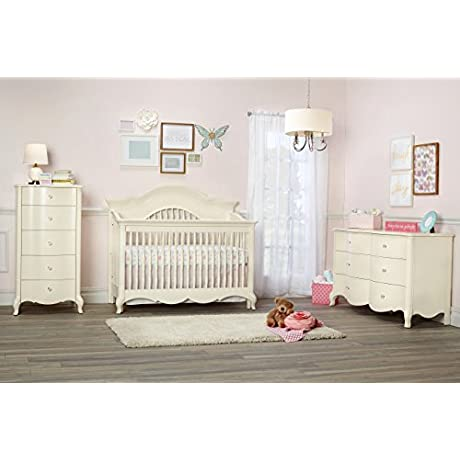 Suite Bebe Julia Lifetime 4 In 1 Crib White Linen