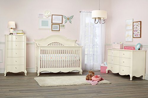Suite Bebe Julia 4 in 1 Convertible Crib White Linen