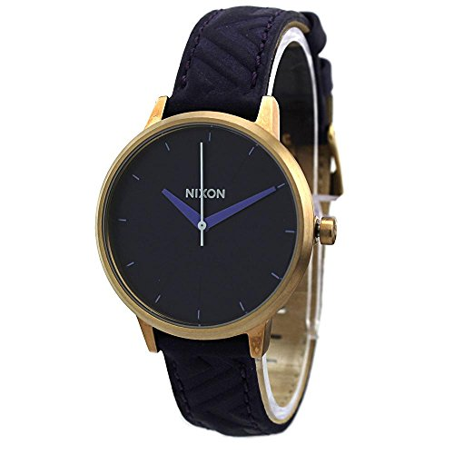 Nixon-Womens-Kensington-Stainless-Steel-Watch-with-Leather-Band