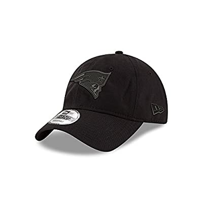 New England Patriots Black on Black 9TWENTY Adjustable Hat / Cap by New Era