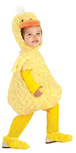 [UHC Plush Yellow Duck Outfit Toddler Fancy Dress Halloween Costume, M (18-24M)] (Ultimate Party Animal Halloween Costume)