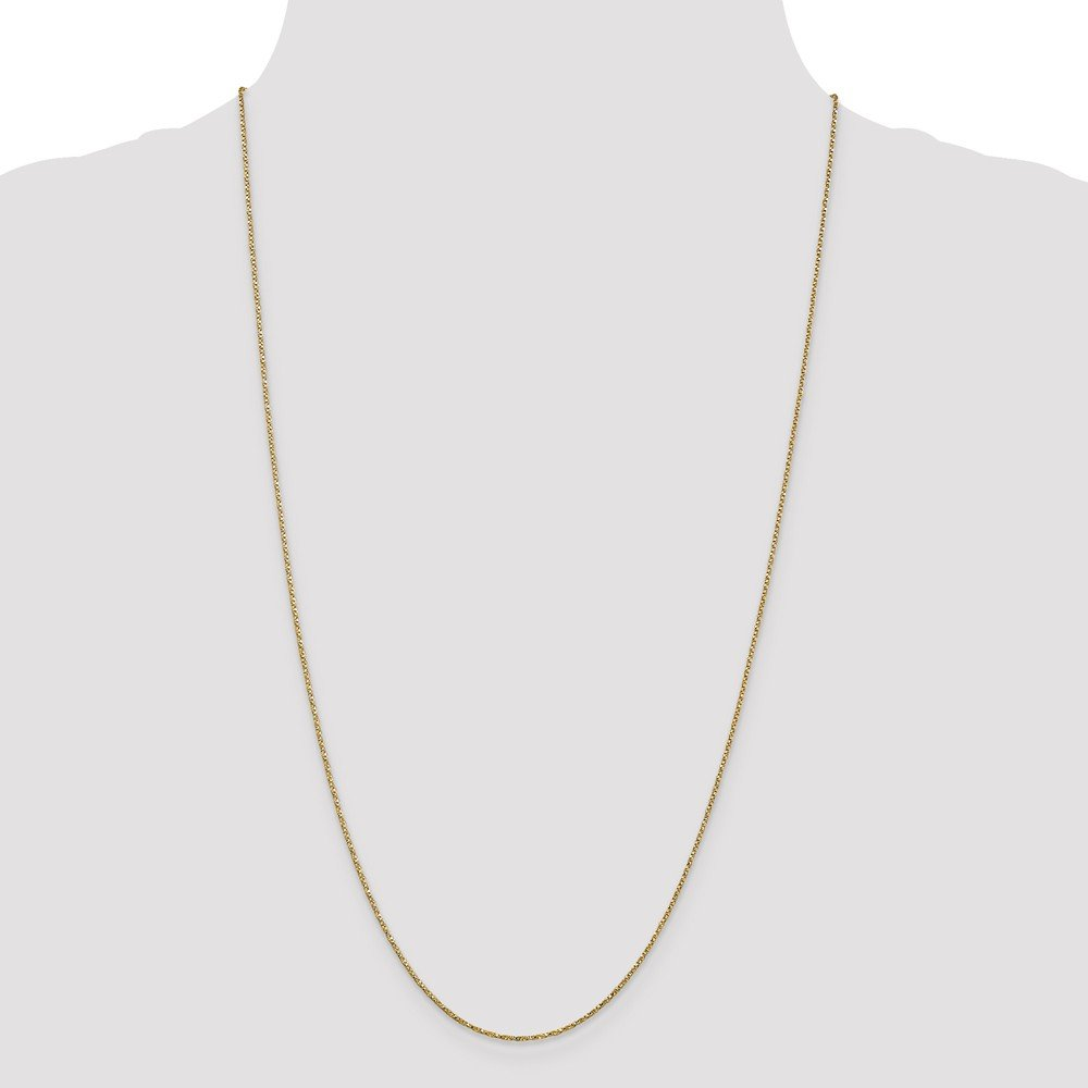 ICE CARATS 14k Yellow Gold .95mm Twisted Link Box Chain Necklace 18 Inch Fine Jewelry Gift Set For Women Heart by ICE CARATS (Image #4)