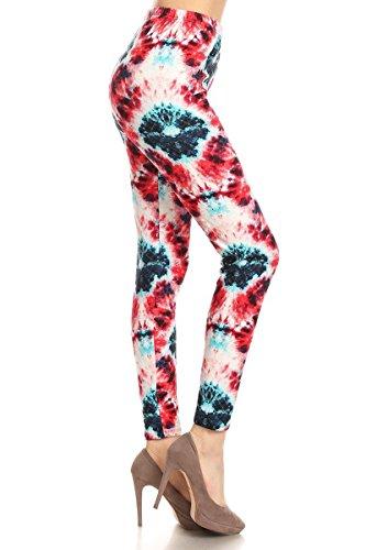 R909-EXTRAPLUS Cranberry Punch Print Fashion Leggings ()