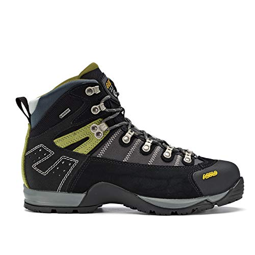 (Asolo Men's Fugitive GTX Hiking Boots, Black / Gun Metal, 12 D(M) US)