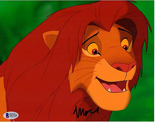 Matthew Broderick signed 8x10 B&W photo BAS Beckett Authentication Voice of Simba Lion King ()