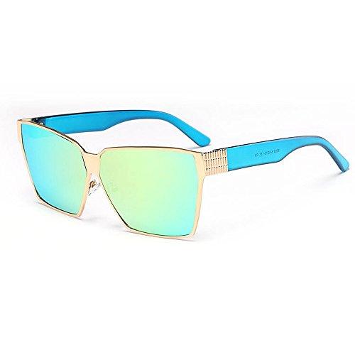 Retro Viajando Lentes coloreadas gran playa Unisex unisex de de aire Estilo de Gafas Elegante protección verano conducción UV al la sol tamaño de la Para la Gol C4 para de sol Viajar libre pesca adulto dwz0S
