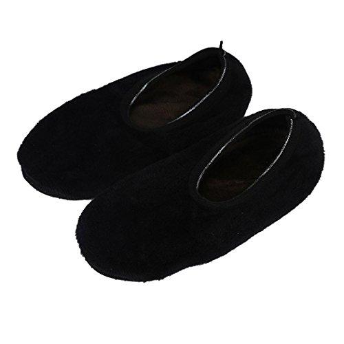 Antislip Pantoffelsokken, Inkach 5 Paar Dames Meisjes Zachte Comfortabele Indoor Vloer Sokken Slipper Sokken Antislip Onderkant Zool Zwart