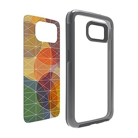OtterBox My Symmetry Series Galaxy S6 Case - Grey Crystal w/ Fall Grid Graphic Insert (Otterbox Samsung Galaxy S5 Skin)