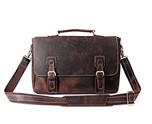 Kaxima Non-U-turn computer bag male and female handbag head layer cowhide Crazy Horse Skin single shoulder messenger bag